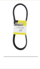 539111582 Primary Drive Belt. Fits Husqvarna Zero-Turn Mowers